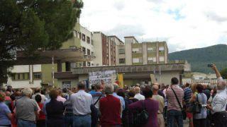 Manifestazione dei cittadini per impedire la chiusura dell'ospedale di Gissi