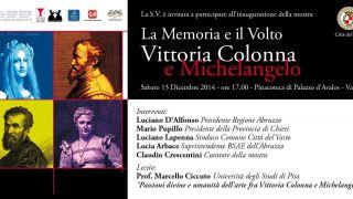 Invito mostra Vittoria Colonna e Michelangelo