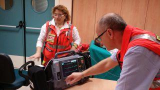 Elettrocardiografo in funzione