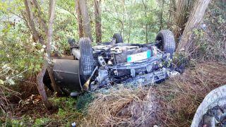 L'auto dopo lo schianto