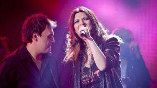 Nicola Oliva con Laura Pausini