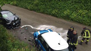 Le autovetture coinvolte nell'incidente
