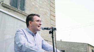 Gennaro Luciano in piazza San Vitale