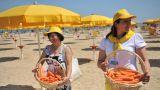 Prodotti agricoli sulle spiagge italiane
