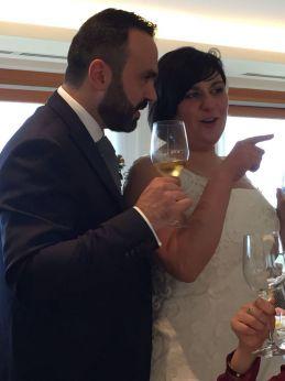 Gli sposi Natalfrancesco Litterio e Lucia Celenza