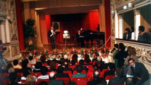 Teatro Rossetti: Severino Gazzelloni alla cerimonia di riapertura 6 dicembre 1987