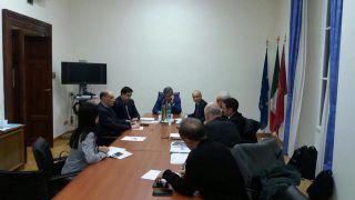 Una immagine della riunione tenuta ieri sera a Roma