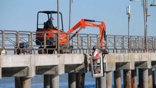 Vasto: lavori sulle strutture del pontile di Vasto Marina