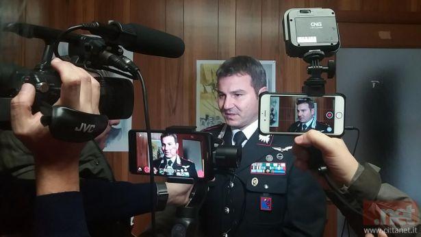 Il magg. Consales comandante della Compagnia dei Cc