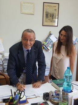 Vasto: il Presidente del Tribunale Bruno Giangiacomo e la segretaria Comunale Angela Espamer