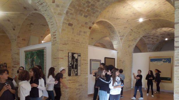 Un angolo delle Scuderie di Palazzo Aragona
