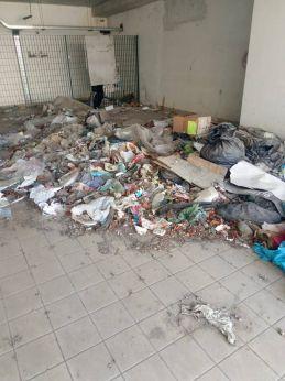 L'area invasa di rifiuti