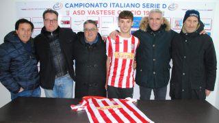 Luca Ruzzi con i dirigenti delle due società