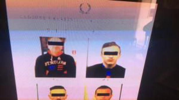 Le foto segnaletiche degli arrestati