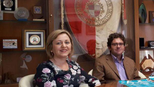 L'assessore Cianci e il sindaco Menna