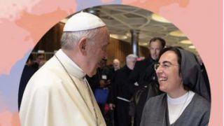 Suor Alessandra Smerilli con Papa Francesco