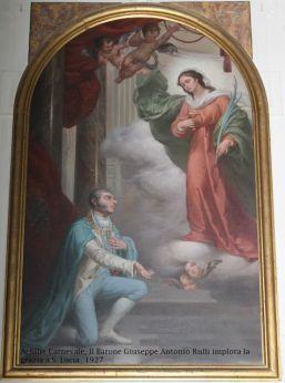 Il Barone Giuseppe Antonio Rulli implora la grazia da Santa Lucia