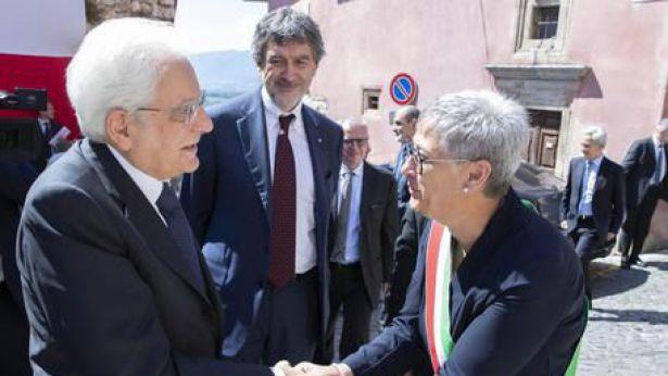 Il presidente Mattarella a Tagliacozzo