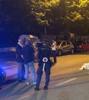 La Polizia sul luogo del tragico fatto