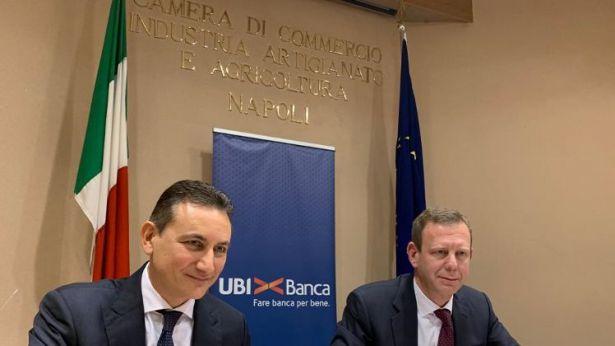 A sinistra Nunzio Tartaglia, Responsabile CDP Imprese; a destra Frederik Geertman, Chief Commercial Officer e Vice Direttore Generale di UBI Banca.