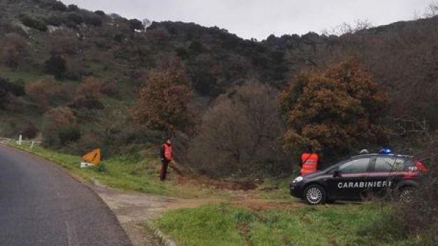 I Carabinieri intervenuti sul luogo