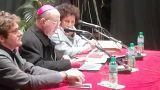 Mons. Bruno Forte tra il Sindaco Menna e la presidente del Club UNESCO Campli