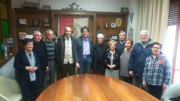 I componenti del direttivo del Centro Aggregazione Anziani ricevuti in Municipio
