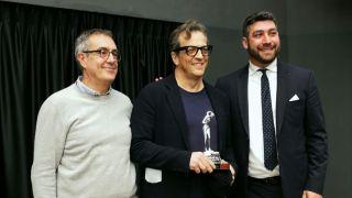 Gabriele Muccino con l'assessore Carlo Della Penna