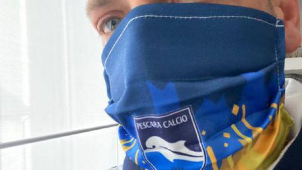 Pescara Calcio: in campo con le mascherine