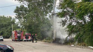 Incendio nella zona di Punta Penna