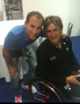 Mauro Sciulli con Alex Zanardi