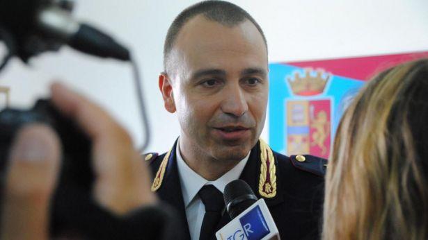 Il dirigente della Polizia di Stato dott. Capaldo