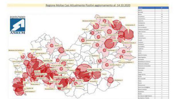 La mappa fatta dall'ASREM