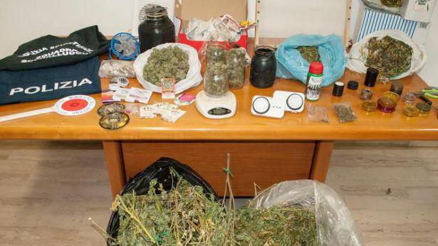 La droga sequestrata a Fossacesia