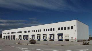 Un capannone dell'autoporto di Piana Sant'Angelo