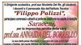 Il necrologio dell'Istituto Palizzi per la scomparsa della Prof.ssa Del Borrello