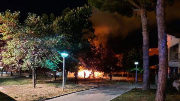 Incendio alla Villa di San Salvo
