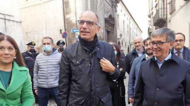 Enrico Letta a Sulmona